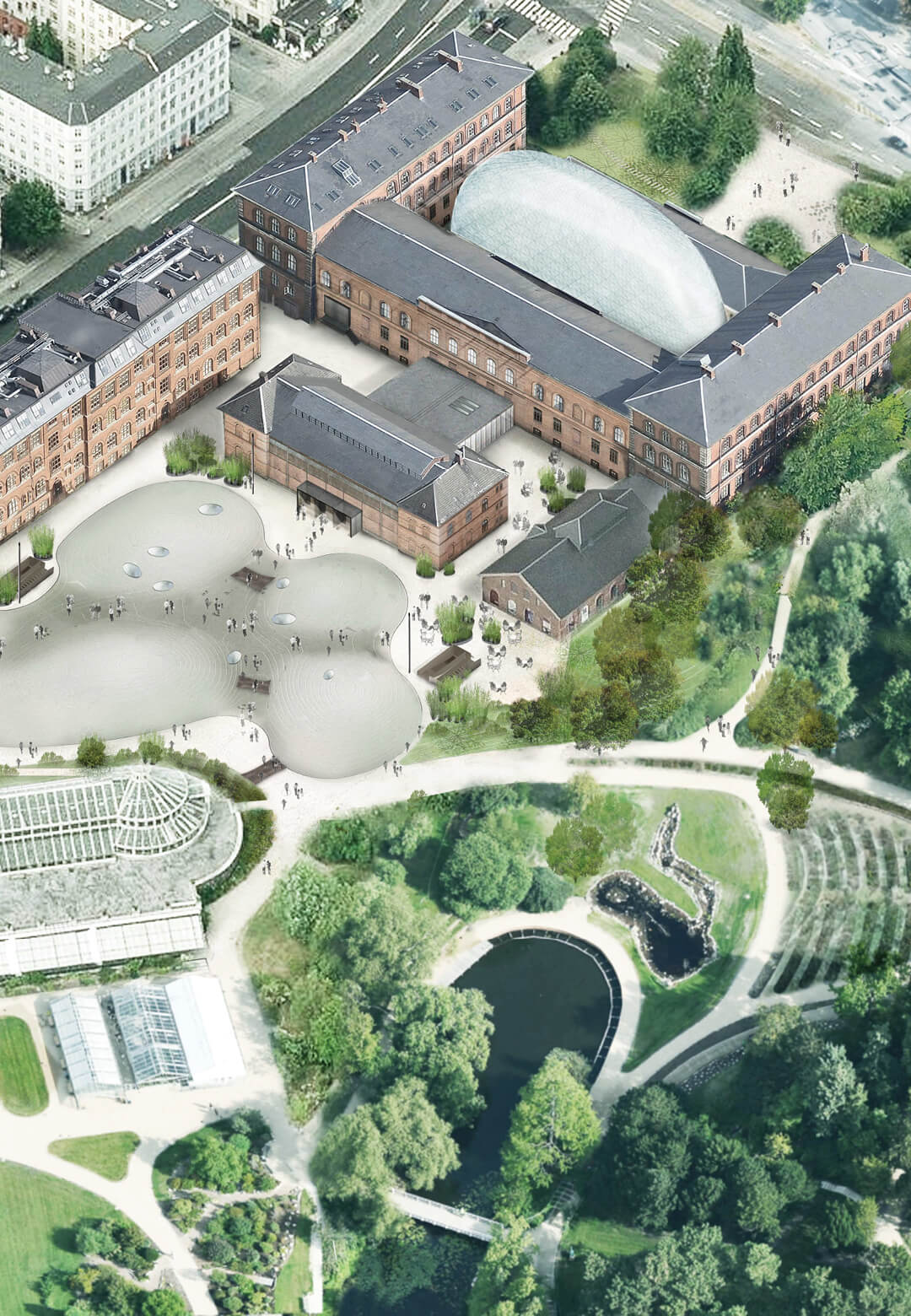 Aerial view of the new proposal | Natural History Museum | Lundgaard & Tranberg Arkitekter | STIRworld