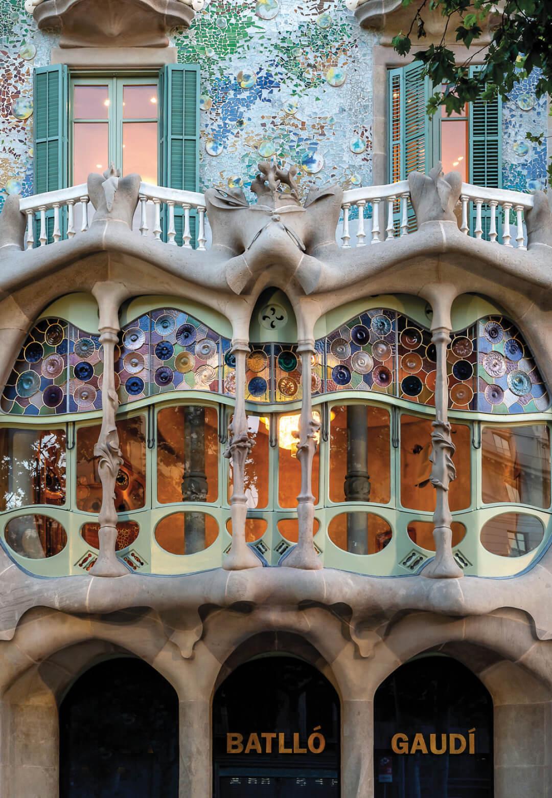 Front facade of Casa Batllo   Casa Batllo by Antoni Gaudi   STIRworld