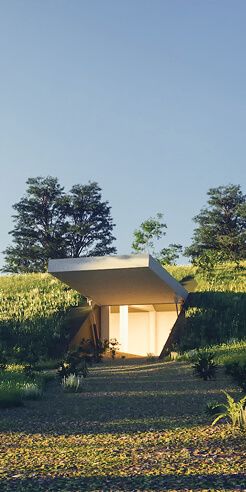 ABIBOO Studio's doomsday shelter doubles as a unique second home