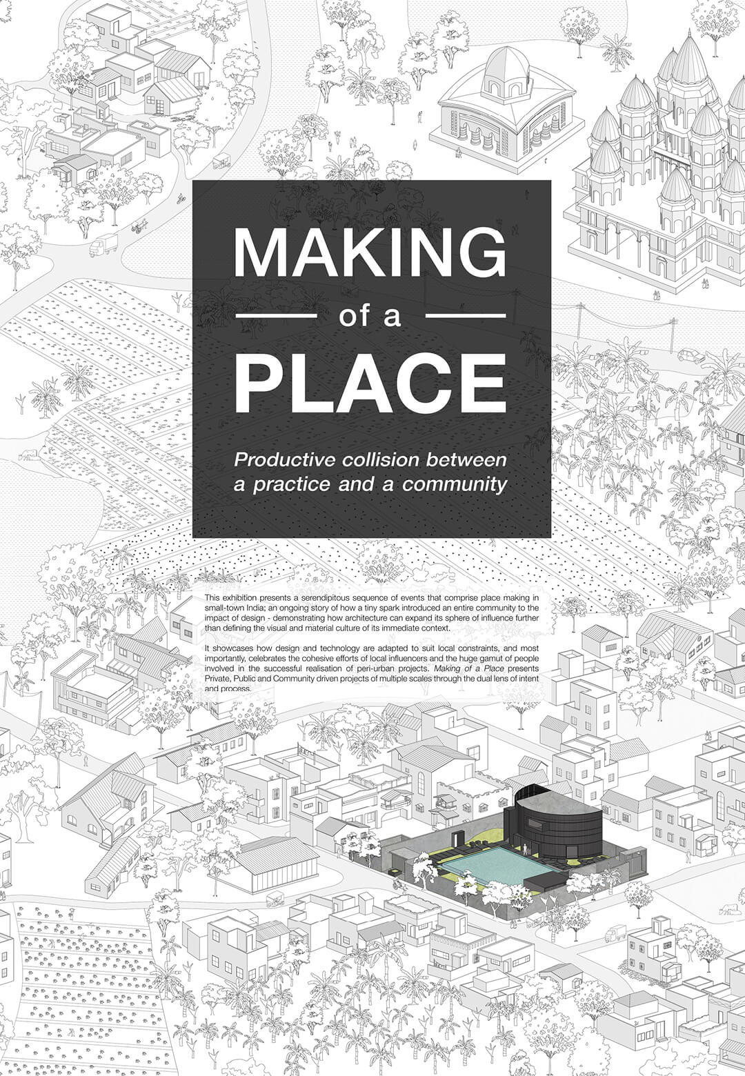 Making of a Place exhibition by Abin Design Studio that took place at the Lilavati Lalbhai Library, CEPT University, Ahmedabad, India shows all the projects | Making of a Place | Abin Design Studio | STIRworld