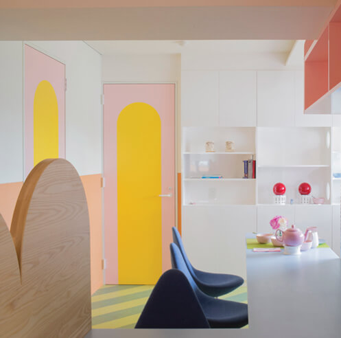 Adam Nathaniel Furman instills his pop colour aesthetic in Nagatachō Apartment