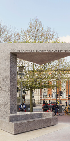 Adjaye Associates designs a memorial pavilion as a tribute to Cherry Groce