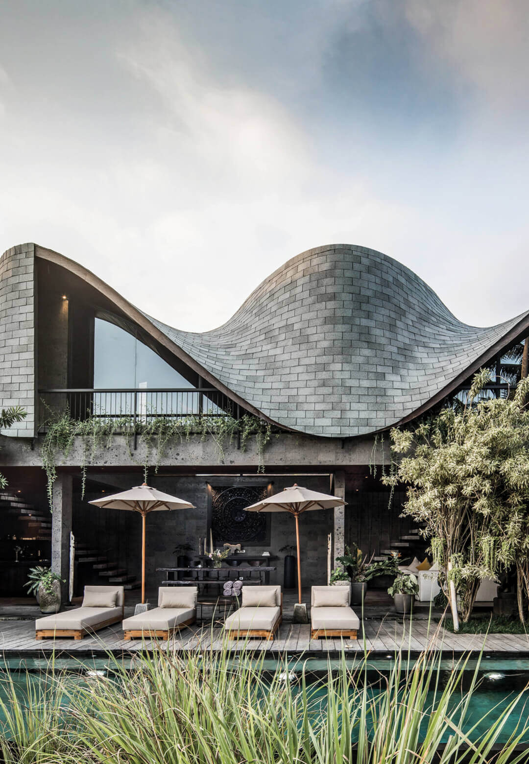 Alpha House by Alexis Dornier features a sinuous grid shell roof | Alpha House by Alexis Dornier | Bali, Indonesia | STIRworld