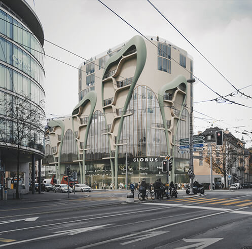 Alpen-Akelei Haus in Lucerne, Switzerland, merges biology with computation