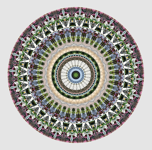 American artist and photographer Neal Peterson forms Urban Mandalas with cities