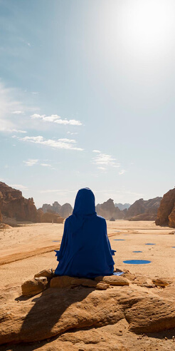 American artist Lita Albuquerque creates fictional female astronaut for Desert X AlUla