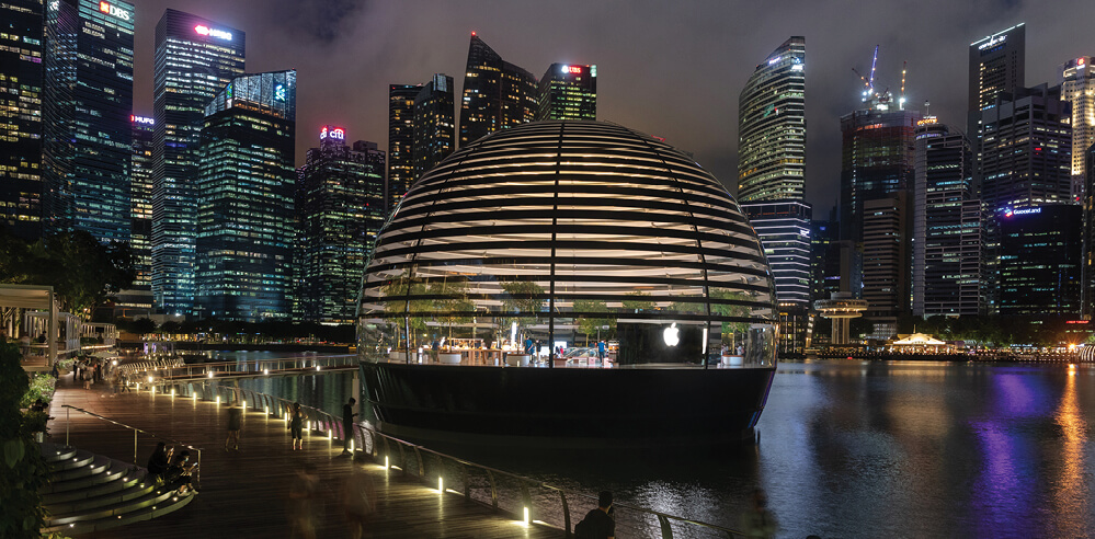 Apple opens floating store designed by Foster + Partners in Singapore