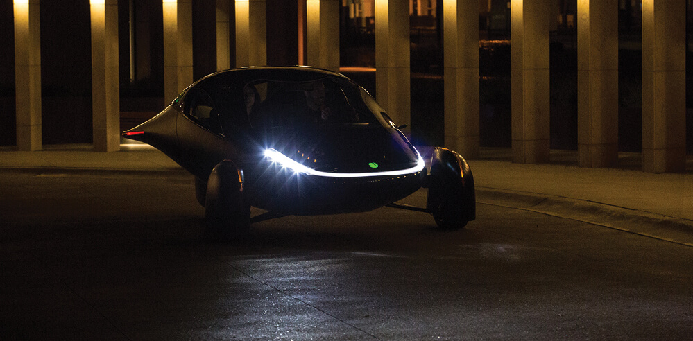 "Aptera's new hyper-futuristic three wheeled pod is a ""no charge"" solar car"