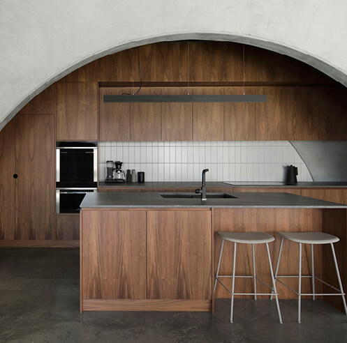Arched concrete panels give rhythm to Nic Brunsdon's North Perth House