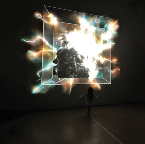 Artist Brett Bolton of Nevada brings together audio and video in his art
