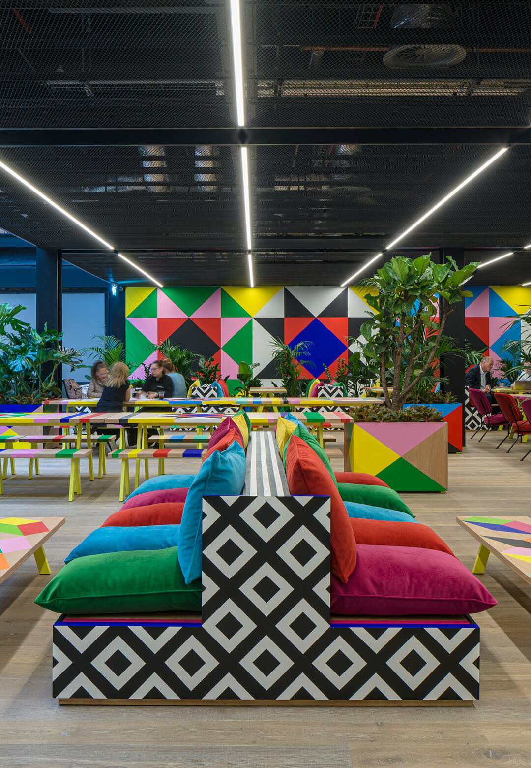 Atoll by Morag Myerscough at Broadgate, London | Atoll | Morag Myerscough | STIRworld