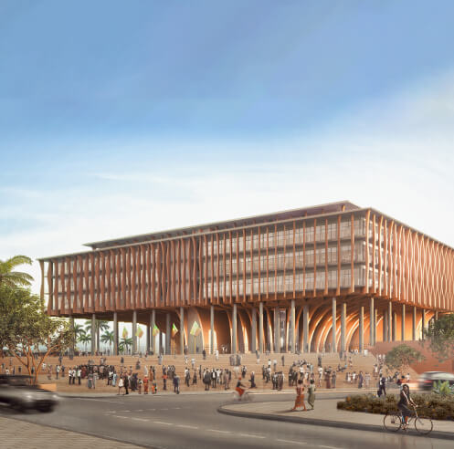 Kéré Architecture-designed Benin National Assembly mimics the African palaver tree