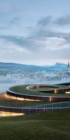BIG builds spiral museum for luxury watch brand Audemars Piguet in Switzerland
