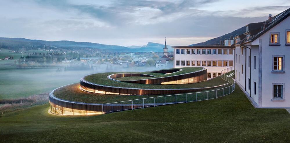 BIG builds spiral museum for luxury watch brand Audemars Piguet in Switzerland