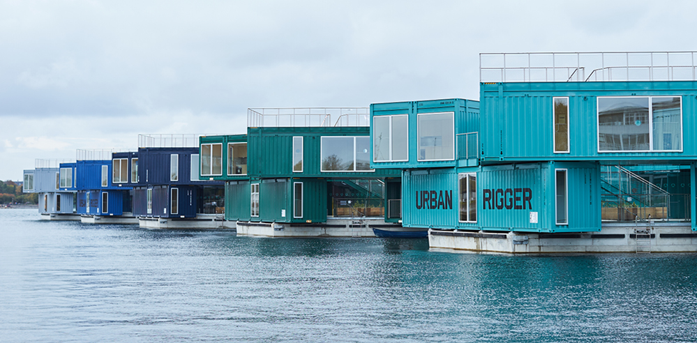 BIG builds affordable floating village 'Urban Rigger' in Copenhagen, Denmark