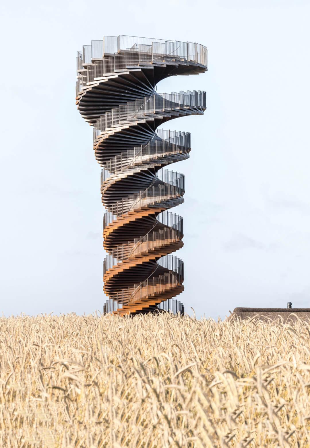 BIG's helical Marsk Tower is designed as a unique vantage point and a sculptural landmark in Denmark   Marsk Tower   Bjarke Ingels Group   STIRworld