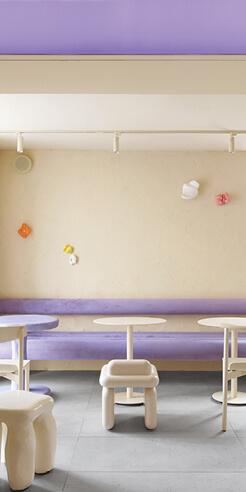 Café Krujok gets a doughnut themed interior by Eduard Eremchuk, Katy Pititskaya