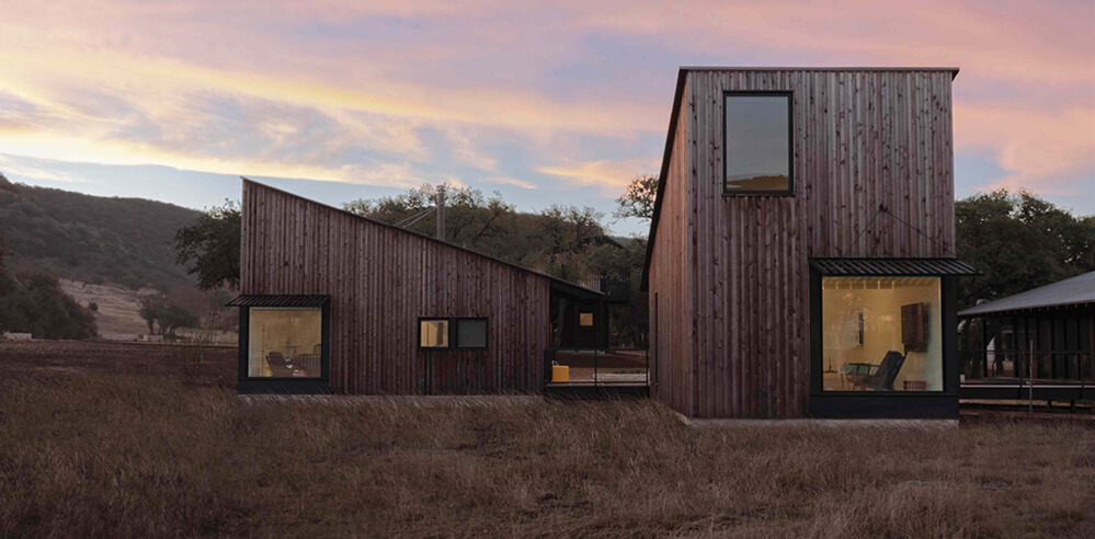 Camp Frio by Tim Cuppett Architects is a mix of vintage and new in a weekend home