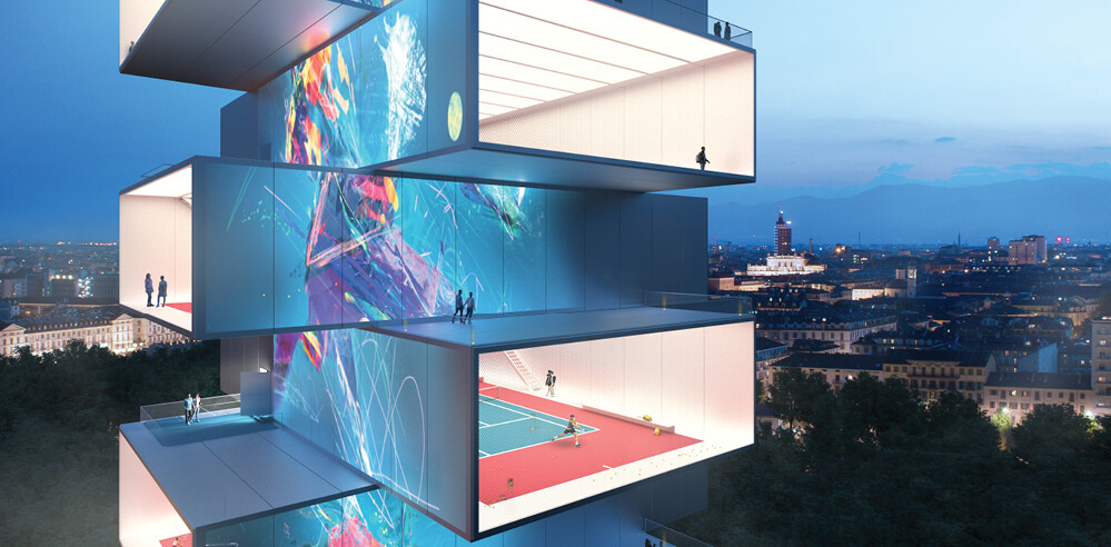 "Carlo Ratti Associati designs a ""see-through"" skyscraper for sports in Turin, Italy"
