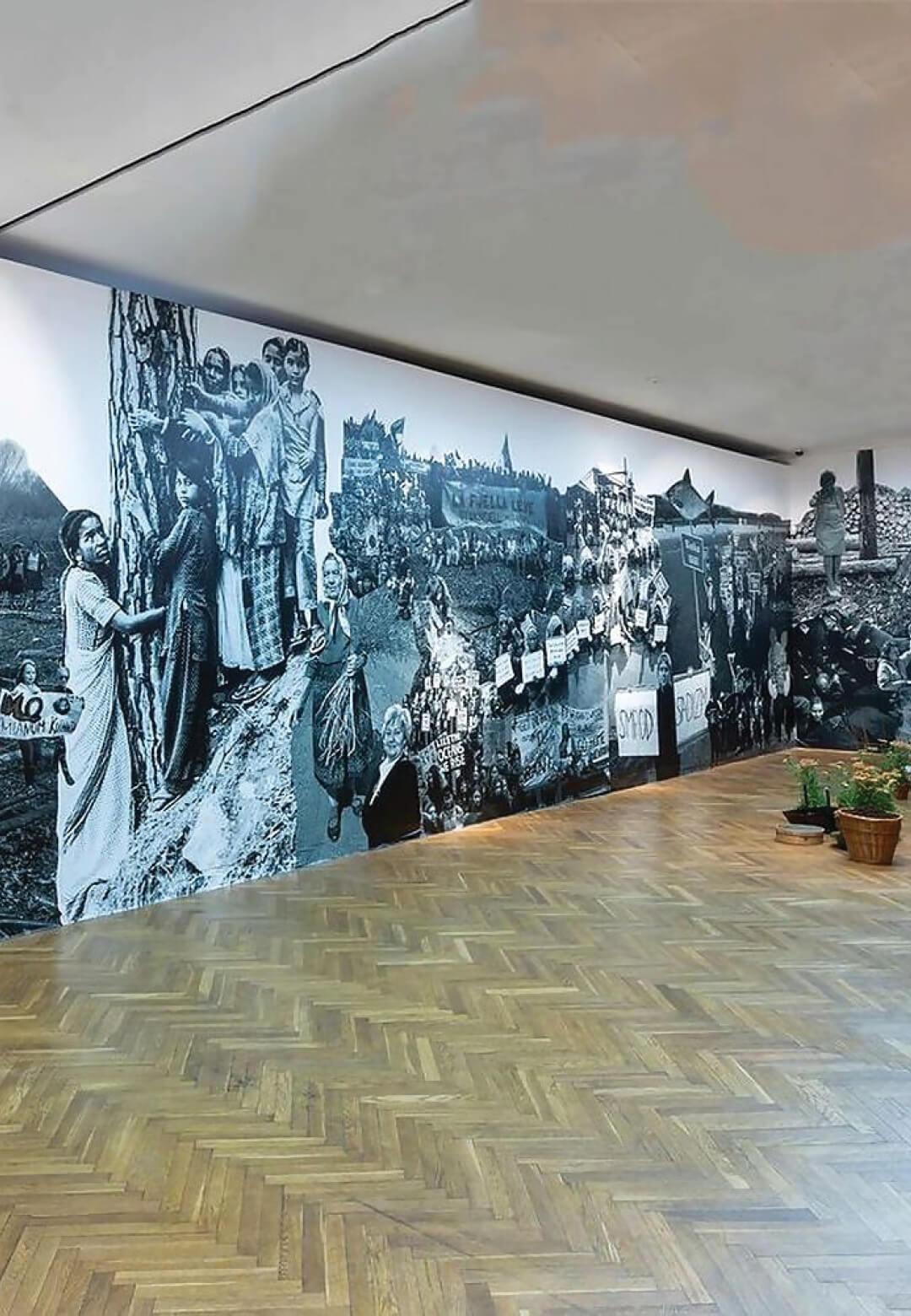 Care Report Mural, Installation view at Muzeum Sztuki, Lodz, Poland | Carolina Caycedo | STIRworld