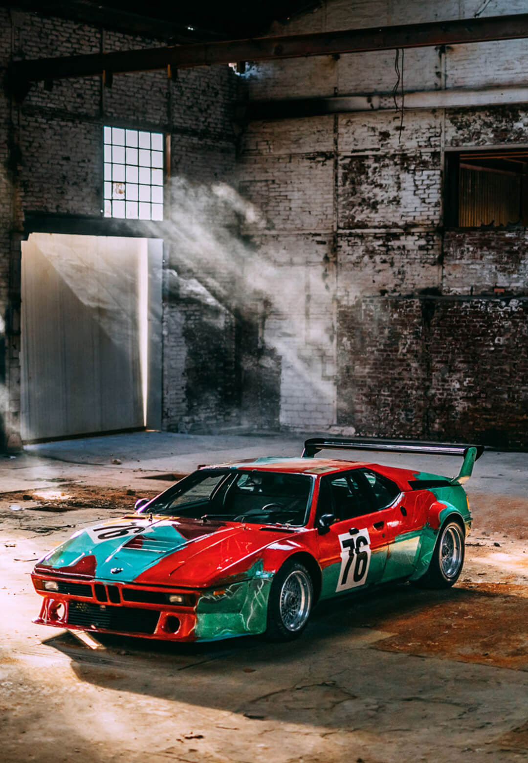 Andy Warhol's BMW Art Car, 1979 | Industrial Surface as artistic canvas | Andy Warhol | India Art Fair | STIRworld