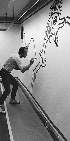 Celebrating the life of pop artist Keith Haring who promoted AIDS awareness
