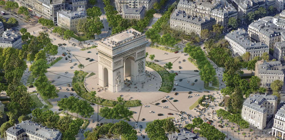 Champs-Élysées in Paris to be redesigned into a pedestrian-friendly green space