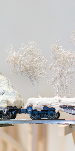 Creativity of Blane De St. Croix's expansive sculptural art meets climate science
