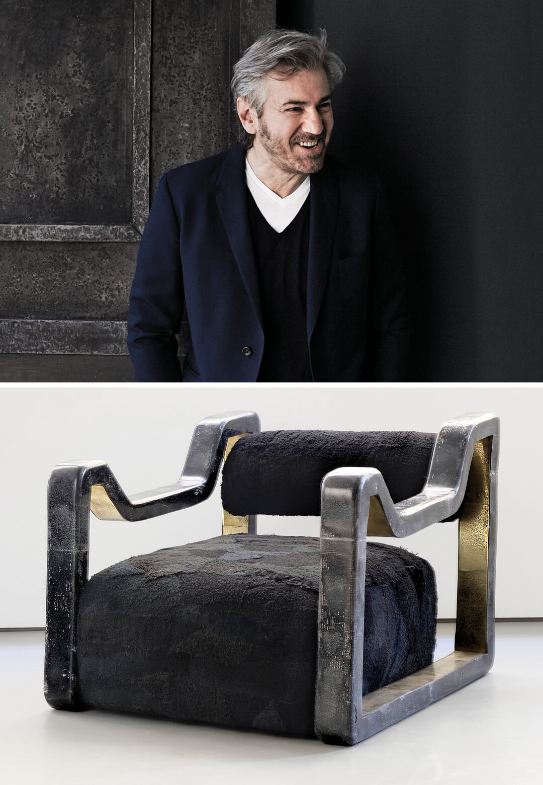 Italian architect and artist Vincenzo De Cotiis (L), DC2013A Armchair (R) from his latest body of work, Crossing Over | Crossing Over | Vincenzo De Cotiis | STIRworld