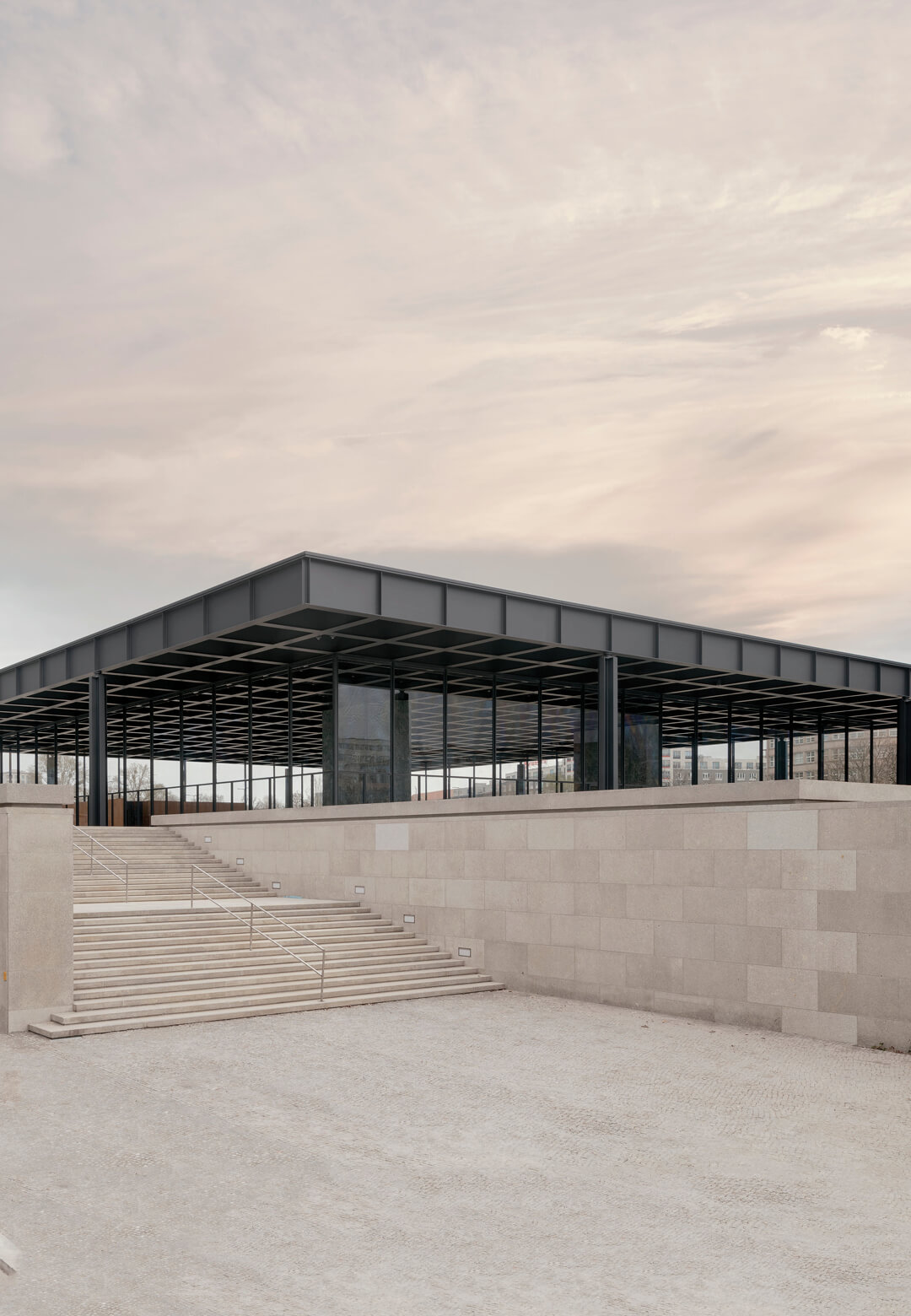 View of Neue Nationalgalerie from Sigismundstraße, Berlin| Neue Nationalgalerie|Ludwig Mies van der Rohe | David Chipperfield Architects | STIRworld