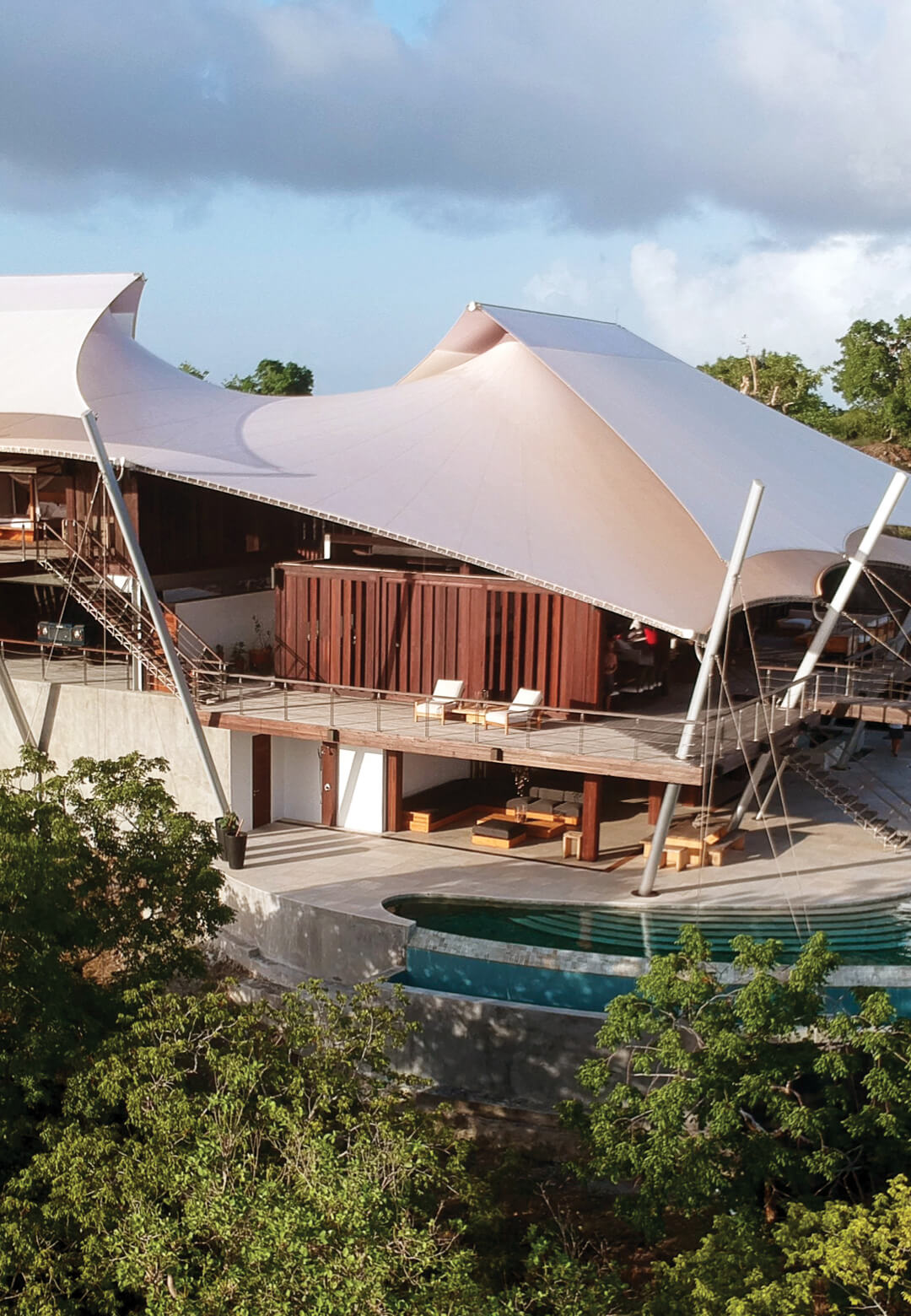 Sail House by David Hertz Architects conjures up the image of billowing sails on ships   Sail House by David Hertz Architects, Studio of Environmental Architecture   Saint Vincent and the Grenadines   STIRworld