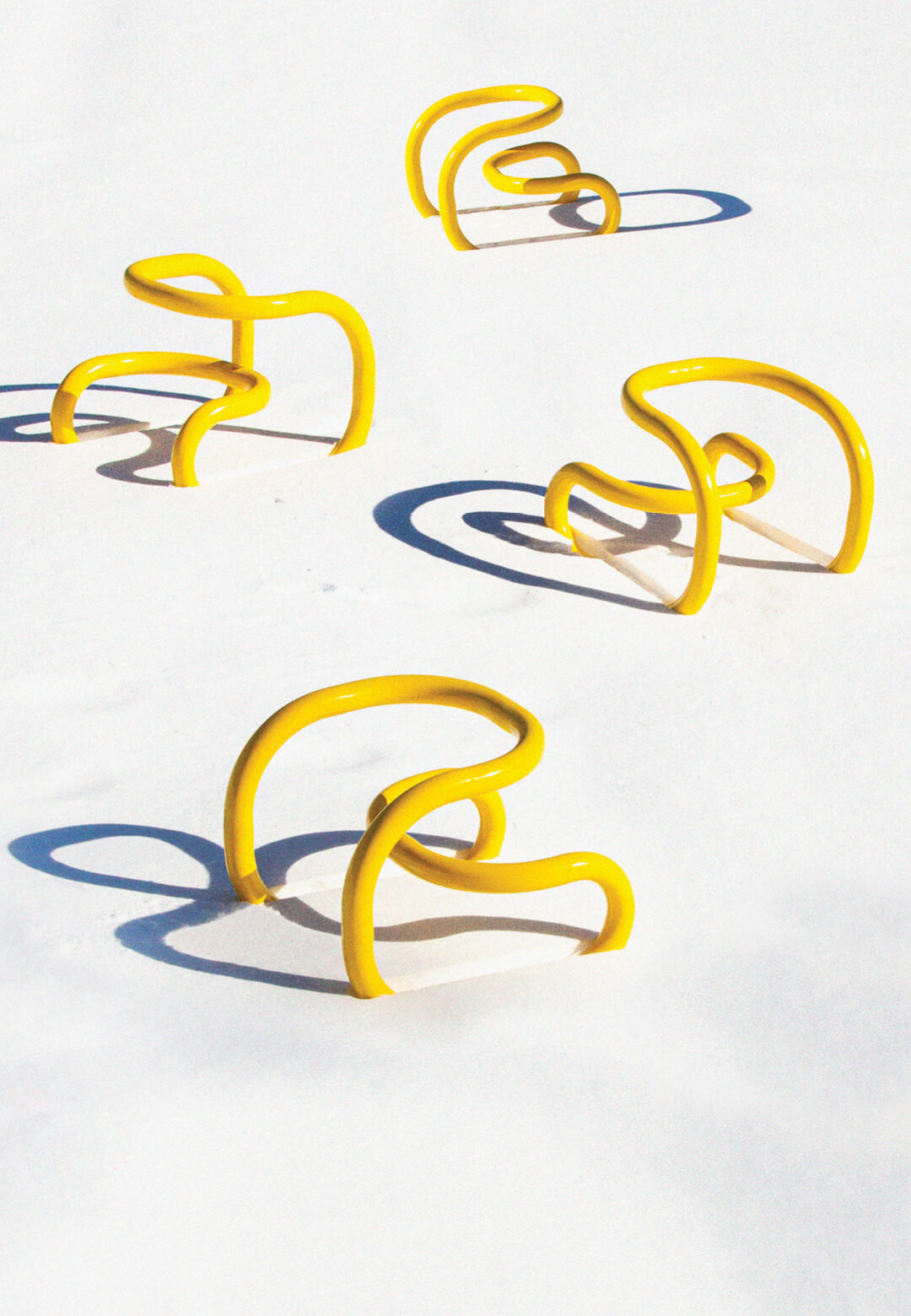 The quirky Loopy Chair by Nikolas Bentel looks like a steel bike rack | Loopy Chair| Nikolas Bentel | STIRworld