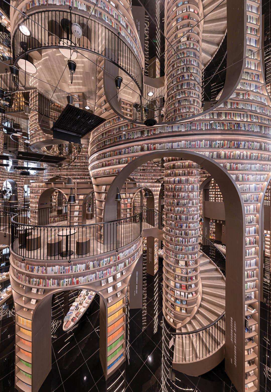 Dujiangyan Zhongshuge by X + Living is a surreal, cavernous bookstore in Chengdu, China | Dujiangyan Zhongshuge by X + Living | STIRworld
