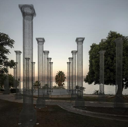 Edoardo Tresoldi erects wire mesh installation Opera in southern Italy