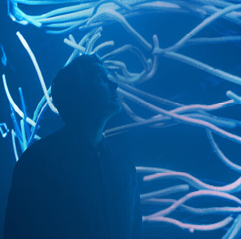 'Electronic: From Kraftwerk to The Chemical Brothers' creates space with light in the UK