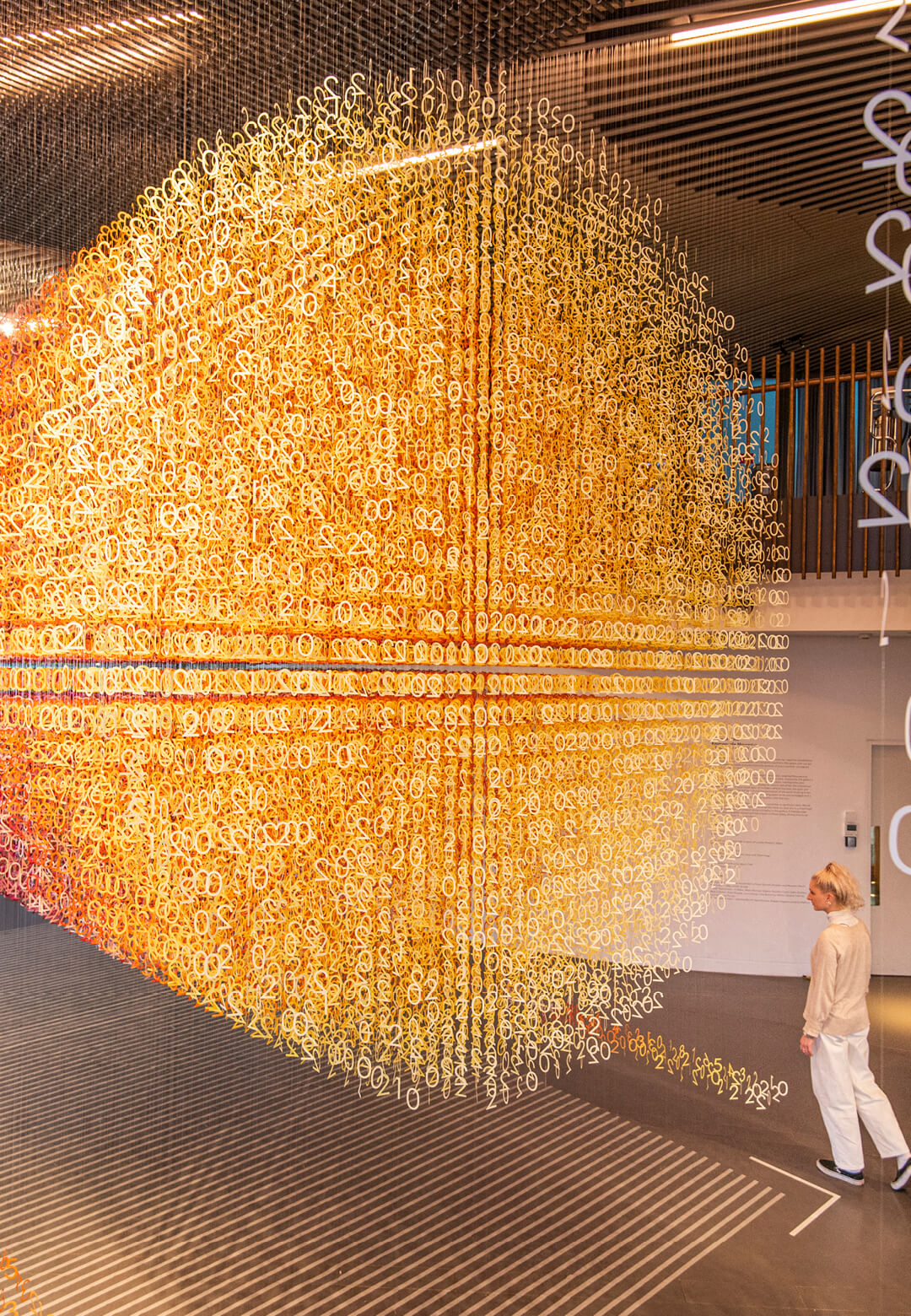 Installation is inspired by the gallery's location on the Greenwich Peninsula near to the Meridian   Slices of Time  Emmanuelle Moureaux   STIRworld