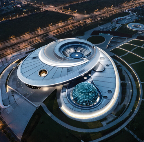 Ennead Architects evokes celestial bodies in motion at Shanghai Astronomy Museum