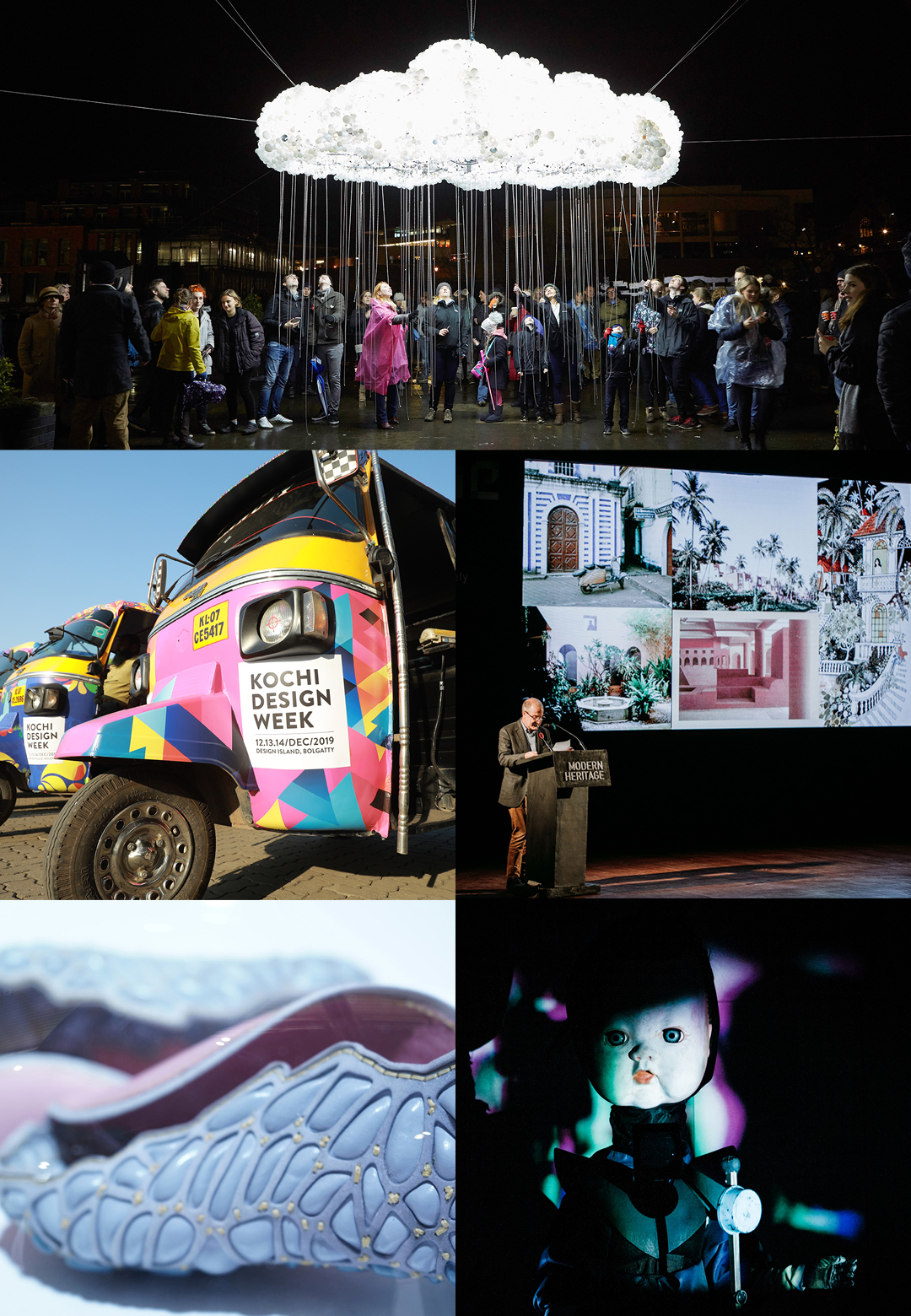 STIR picks events that fostered conversation on art and design this year - (clockwise from top left) Kochi Design Week, Frame Conclave, Reshape, Lumiere Festival and Venice Biennale | Events Round up 2019 | STIRworld