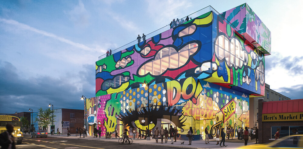 Glass Mural by MVRDV pays tribute to Detroit's historic Eastern Market