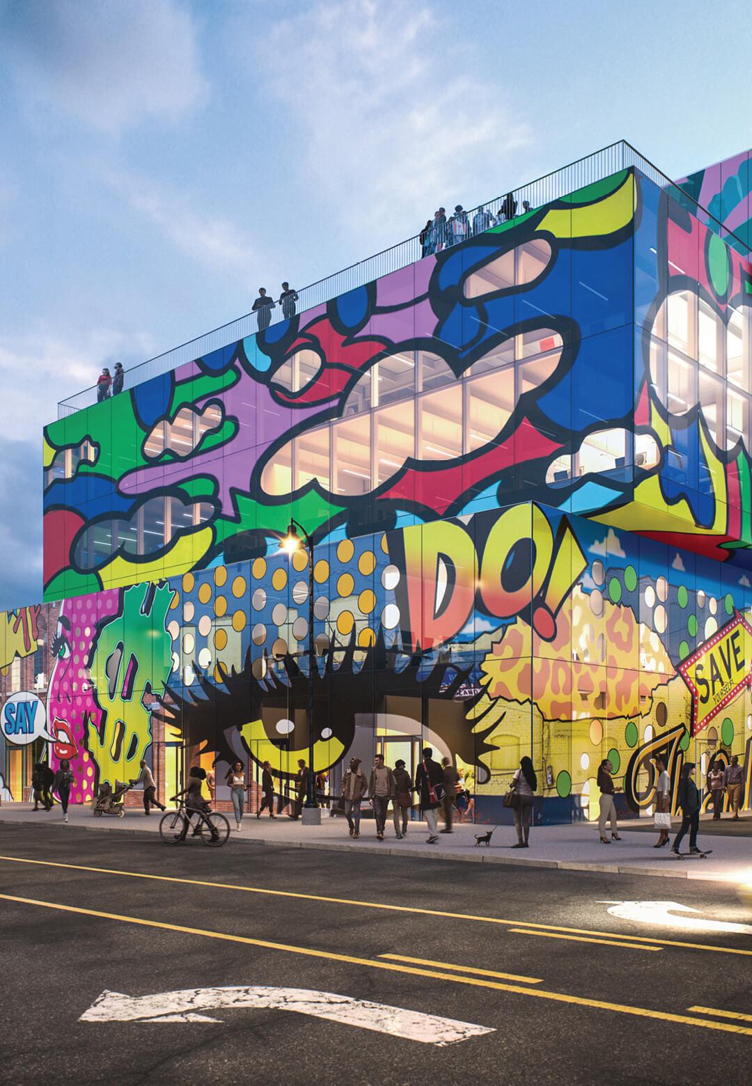 Visualisation of the Glass Mural complex | MVRDV | Detroit, USA | STIRworld