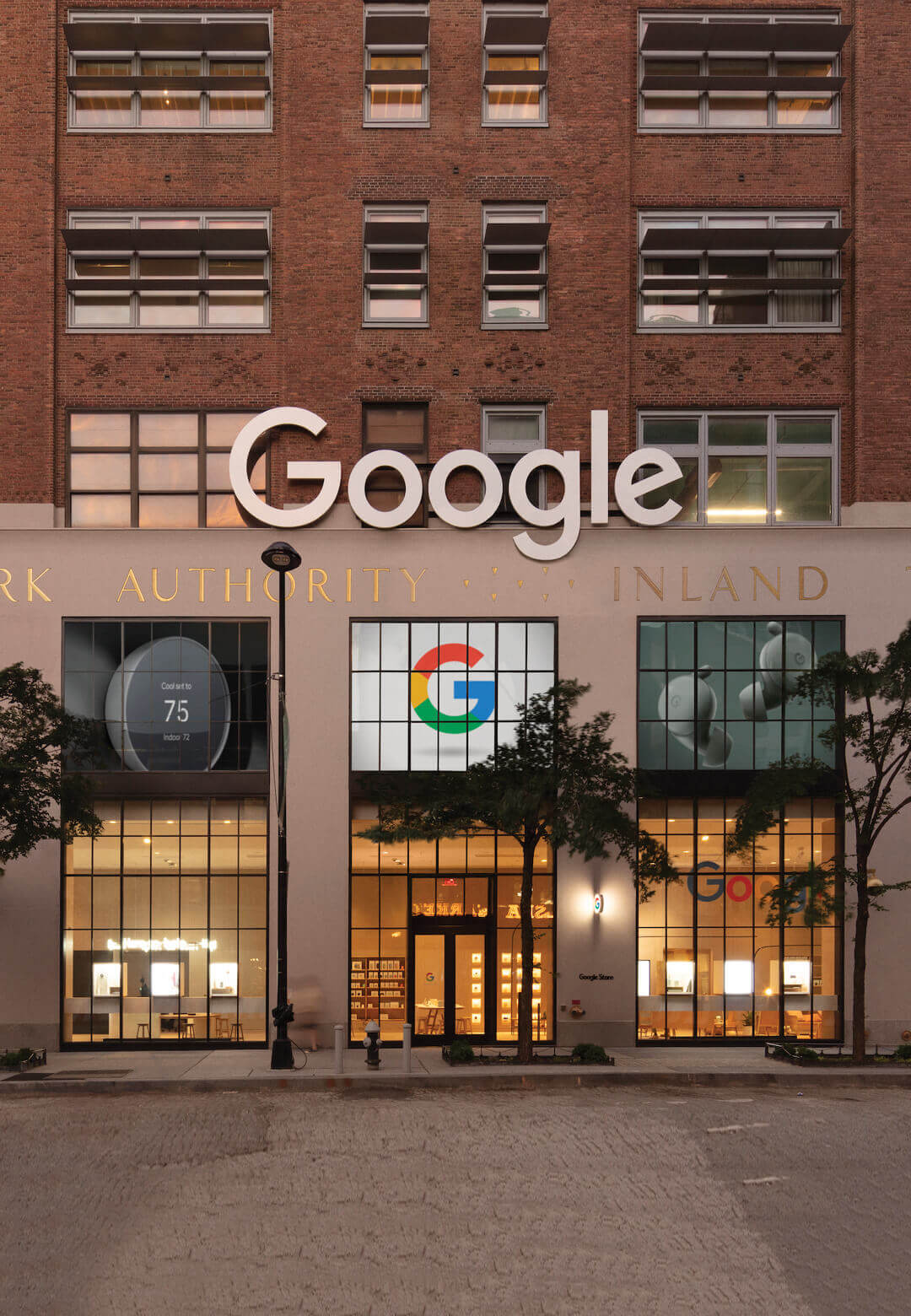Google's first retail space (on the ground floor) of the company's Chelsea headquarters