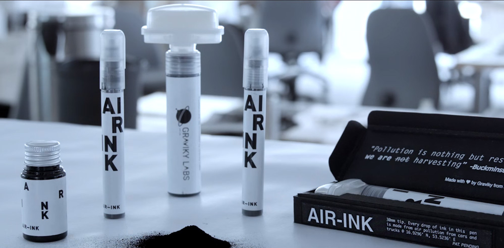 Recycling air pollution into inks: AIR-INK by Graviky Labs