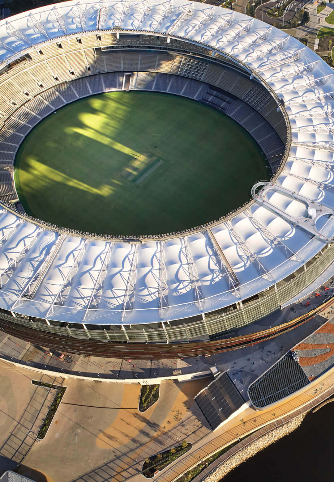 Hassell has designed a new viewing platform on the roof of Optus Stadium in Perth, Australia | Ring Pull Platform for Optus Stadium by Hassell | STIRworld