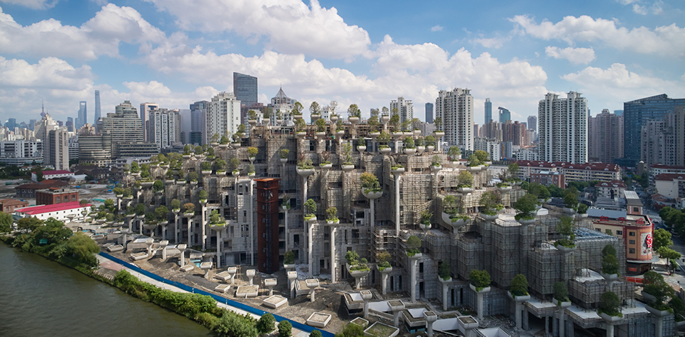 Heatherwick Studio designs green mountains for 1000 Trees in Shanghai