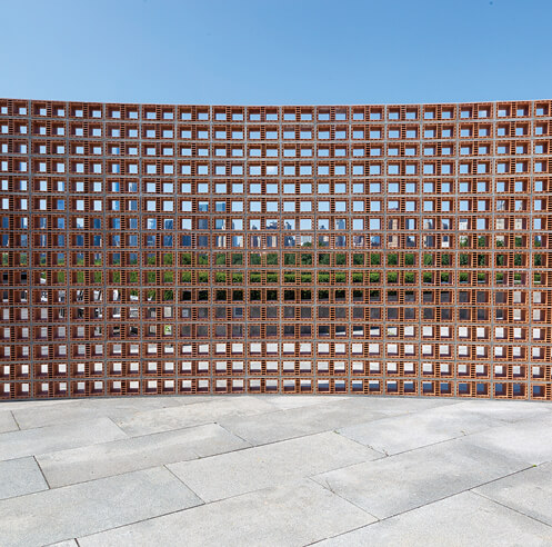 Héctor Zamora creates visual metaphors with vernacular elements on the Met's roof