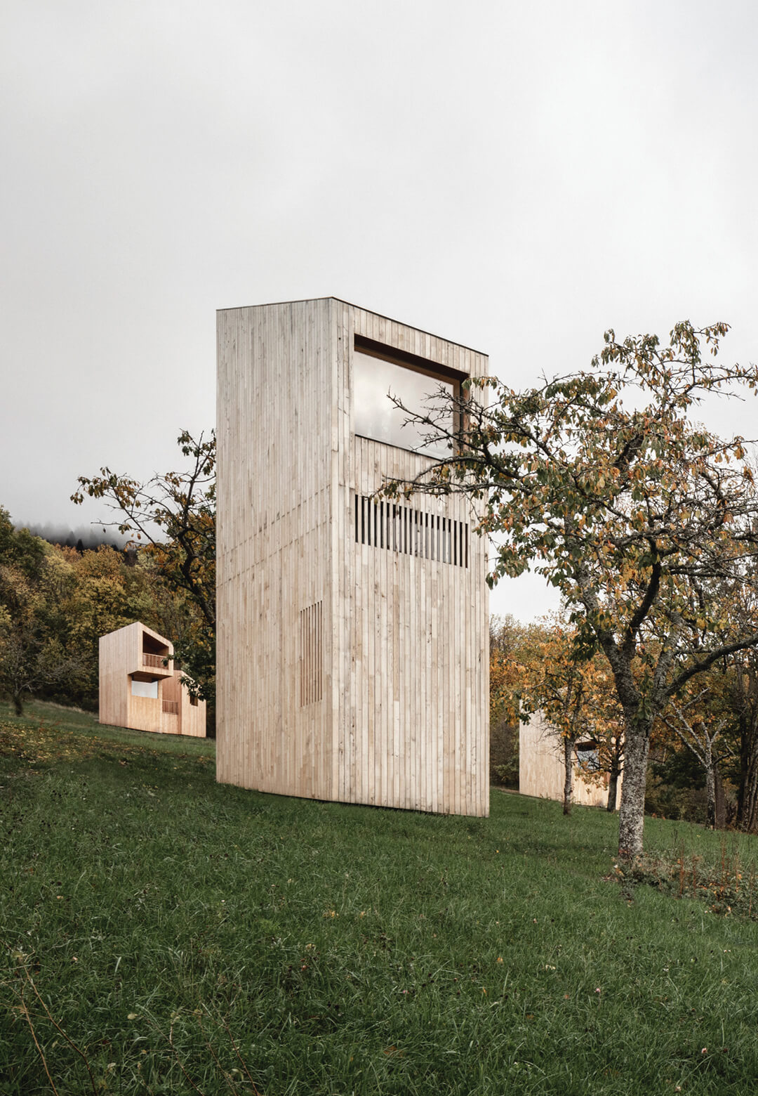 The Breitenbach Landscape Hotel: 48° Nord by Reiulf Ramstad Architects consists of 14 Scandinavian cabins spread across a lush site | Breitenbach Landscape Hotel: 48° Nord | Reiulf Ramstad Architects | STIRworld