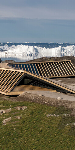 Ilulissat Icefjord Centre by Dorte Mandrup in Greenland contemplates climate change
