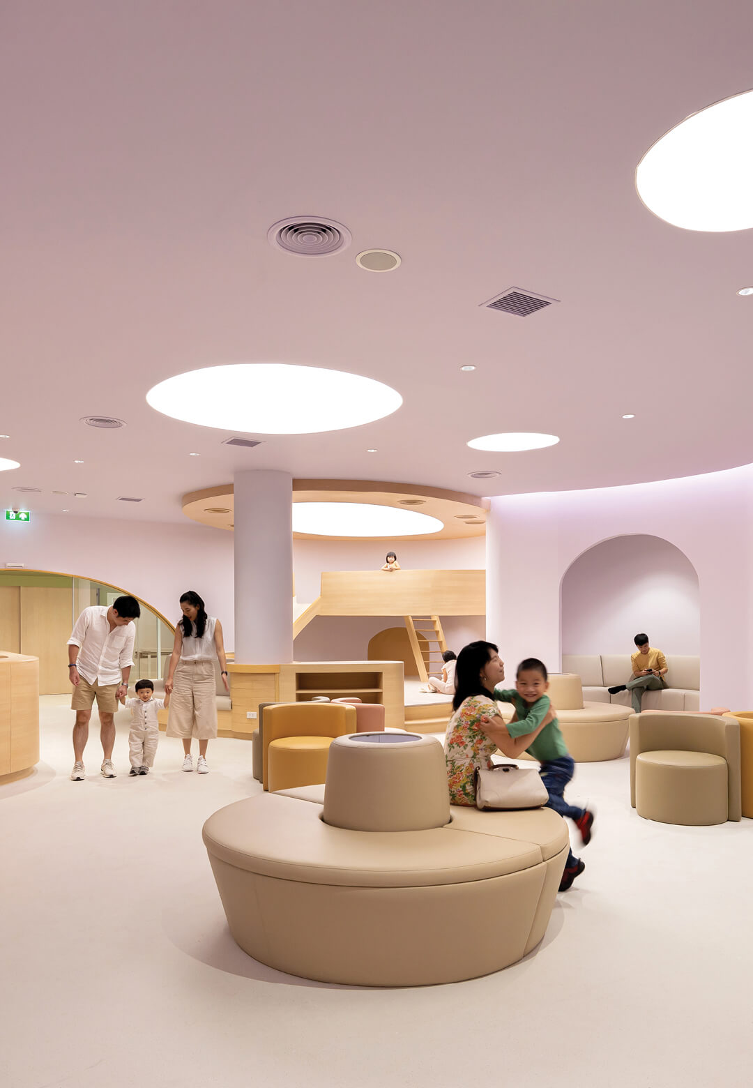 All pastel interiors of EKH Children's Hospital in Thailand | EKH Children's Hospital by Integrated Field | STIRworld