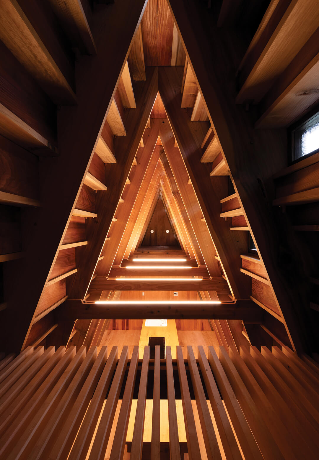 Inside the House for Marebito designed by Japanese architecture startup VUILD | House for Marebito designed by VUILD | STIRworld