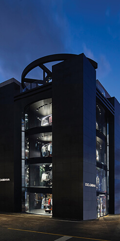 Jean Nouvel's Dolce & Gabbana Seoul store is ensconced in glass and black granite